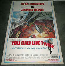 YOU ONLY LIVE TWICE original 1967 large ROLLED 40x60 movie poster JAMES BOND