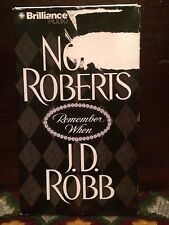 Nora Roberts Remember When JD Robb Brilliance 4 Cassette Tapes 6 Hours Audiobook