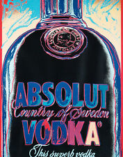 Warhol Andy Absolut Vodka Canvas 16 x 20  #5397