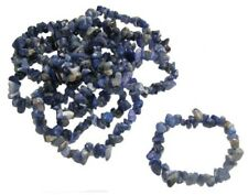 Energy Charged Sodalite Crystal Tumblechip Bracelet Mental Clarity Rationality