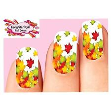 Waterslide Full Nail Decals Art Set of 10 - Autumn Fall Leaves