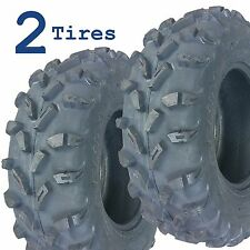 TWO ATV TIRES 25x8.00R-12 25x800-12 25x8-12 Kenda Bounty Hunter K537 6ply Radial