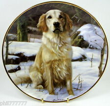 Golden Retrievers ~ Obedience ~ Fine Porcelain Danbury Mint Plate