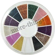 Nail Wheel decorazione di arte 12 colori Steel Ball Bead