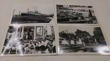 Group of 4 Panama Canal Boats Lottery Scene Real Photo Antique PCs J46319