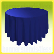"120"" Inch Round Table Cover Tablecloth Wedding Banquet Event - ROYAL BLUE"