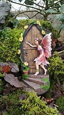 Large Fairy Door secret Garden Magical Ornament Pixie Elf  Figurine 19cm tall
