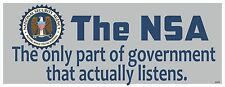 NSA -PEEPING WHILE YOU'RE SLEEPING-ANTI GOVERNMENT SPYING  BUMPER STICKER #4083
