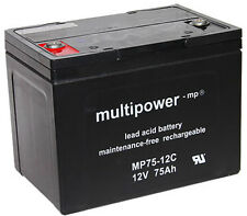 Multipower MP75-12C Lead Battery Cycle-resistant Pb / 12V / 75Ah / M6