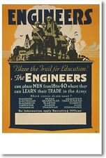 Engineers - Blaze The Trail for Education - NEW Vintage Reprint POSTER