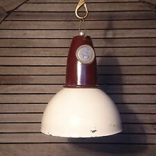 Vintage Old Industrial White Shade Light Pendant Ceiling Lamp