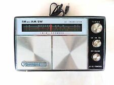 VINTAGE ROSS TRANSISTOR RADIO - Twin SPEAKER AM / FM / SW / AIR / POLICE