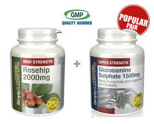 SS Rosehip 2000mg 240 Caps & Glucosamine Sulphate 1500mg 360 Tabs (E505343)
