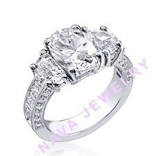 3.36 Ct. OVAL CUT 3-STONE DIAMOND ENGAGEMENT RING NEW