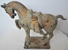 "10"" Antique Chinese Asian Oriental Metal Horse Statue Sculpture Figurine"