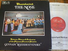 SLS 5088 Shostakovich The Nose / Rozhdestvensky 2 LP box