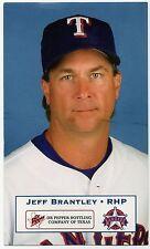 2001 Texas Rangers Dr. Pepper #1 Jeff Brantley SGA Mississippi State Bulldogs