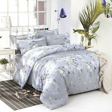 Home Decor Double Queen Size Bed Set Pillowcases Quilt Duvet Cover Rosemary