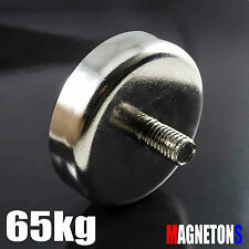 Neodymium Magnet POT MAX 65KG Dia 42mm STRONG HANDLE MAGNETIC NEODYM Neodimio