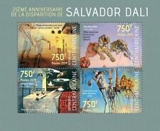 Central Africa 2014 Salvador Dali Paintings Painter Spain S/S CA14107 u