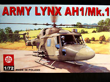 ARMY LYNX AH1/MK.1 BRITISH ARMY HELICOPTER, ZTS PLASTYK, SCALE 1/72