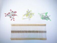20 each red green yellow 3mm diffused leds for HO Scale Model Railroad Signals