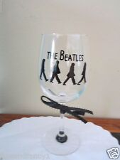 Hand Painted Glass BEATLES,  Stemware,12 oz Wine Glass