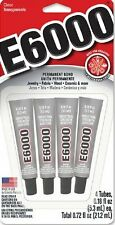 4 x 5.3ml E6000 Glue Industrial Strength for Rhinestones~Crystals~Jewelry~Beads