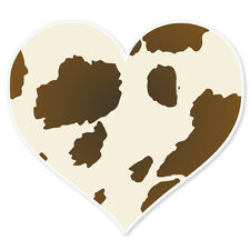 "Cow Print Heart Love car bumper sticker 4"" x 4"""