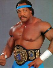 "WCW promo photo Ron Simmons faarooq wrestling 8x10 ""titre mondial avec ceinture wwe"