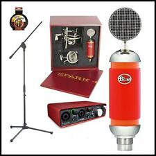 Blue Spark Studio Condenser Microphone with Stand, Focusrite 2i2 USB interface
