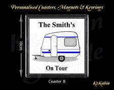 Personalised Caravan On Tour Drinks Coaster Novelty Christmas Gift