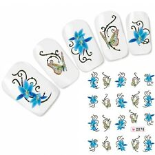 Schmetterling Tattoo Nagel Sticker Butterfly Nägel Aufkleber Nail Art Blumen