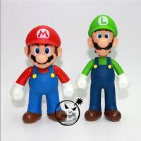 Nintendo Super Mario Bros Lot 2Pcs  Mario And Luigi Figure Toys