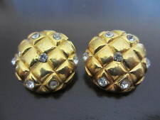 Authentic  CHANEL Vintage CC  earrings (checker-stones) 23mm