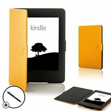 Coque jaune en cuir Smart Case Cover pour Amazon Kindle Paperwhite 2015 + Stylet