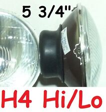 """1pr 5 3/4"""" 143 mm H4 Hi/Lo Semi Sealed Headlights with provision for park light"""