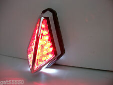 NEW LED REAR STOP TAIL BRAKE LIGHT CHROME STREETFIGHTER MOTORCYCLE CUSTOM CRUISE