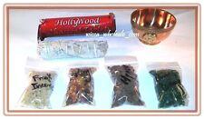 Copper Pentagram Incense Burner Charcoal and 4 Resin, Sage Charcoa Kit travel