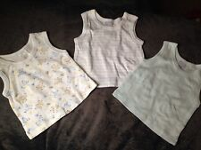 Baby Boy 0/3 Months Tanks Sleeveless Lot Of 3 Excellent Condition Spring/Summer