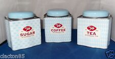 TALA RETRO STYLE VINTAGE 1950s STORAGE CANISTER CADDY TIN X 3 COFFEE SUGAR TEA