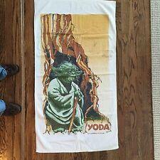 """Vintage Original 1980 Star Wars Yoda Bath Towel 53"""" x 28"""" Lucasfilm Ltd"""