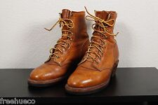 """CHIPPEWA Work Field Utility Boots -Tan Leather 7"""" -Mens US 8 EE (Extra Wide) EUC"""