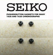 SEIKO PUSHER / BUTTON GASKETS FOR MANY 7A28 7A38 7T32 7T34 7A48 CHRONOGRAPHS