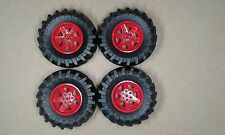 Lego Technic Massive Wheels  & Tyres Set of 4 - 107mm x 44mm NEW