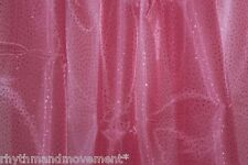 Dance Costume Fabric Pink Glitter Organza 1m  - 148cm wide
