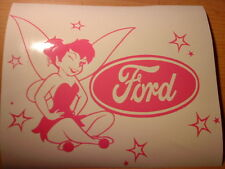 tinkerbell fairy dust pink girls vinyl car sticker novelty fun jdm stars wallart
