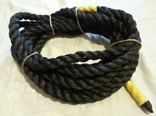 """25' POLY ROPE 7/8"""" thick BLACK DOCKING /ANCHOR LINE OUT DOOR"""