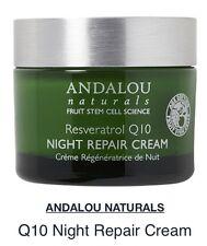 Andalou Naturals Resveratrol Q10 NIGHT REPAIR CREAM Age Defying 1.7 OZ NON GMO