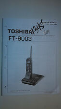 Toshiba ft-9003 service manual original repair book digital cordless phone
